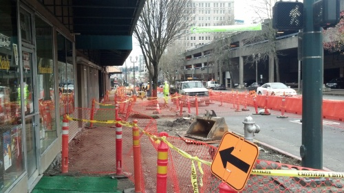 Construction On Pacific Avenue