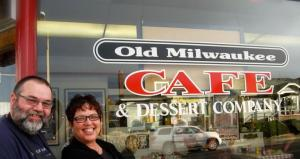 Chad and Pat, owners of the Old Milwaukee Cafe
