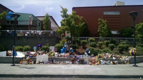 The Memorial At Izabel's Middle School